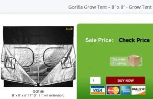 Gorilla Grow Tent – 8′ x 8′ - Grow Tent