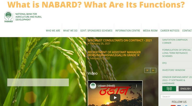 What is NABARD? What Are Its Functions?