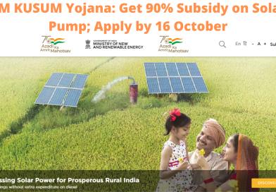 PM KUSUM Yojana: Get 90% Subsidy on Solar Pump; Apply by 16 October