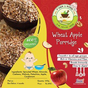 WHEAT APPLE NUTS PORRIDGE MIX(7 Months+)