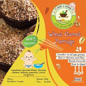 WHEAT CARROT NUTS PORRIDGE MIX(7 Months+)
