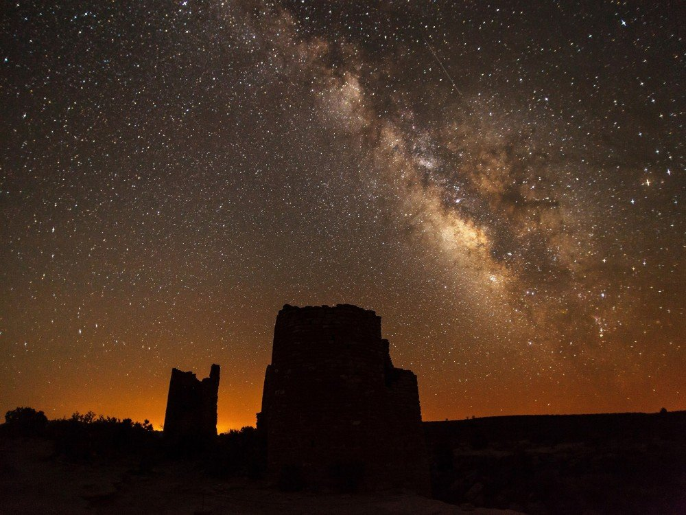Deserts at night in Arizona, The West, USA,