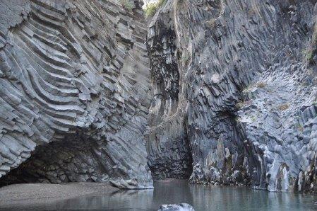 Alcantara Gorges in rural Sicily, Italy