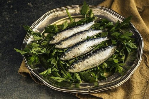 Food at agriturismo Sicily; sardines