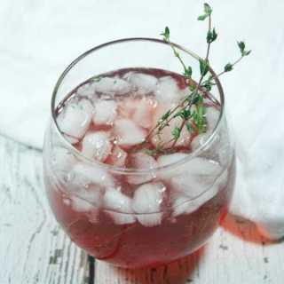 Non-Alcoholic Cranberry Thyme Spritzer