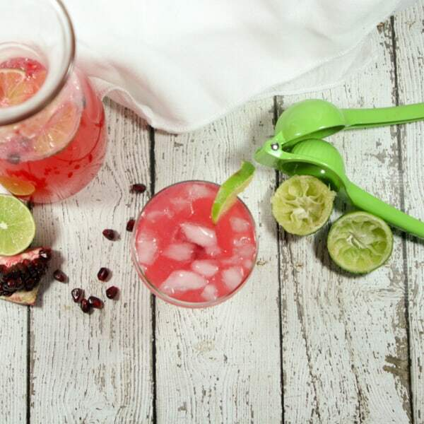 Semi-sweet + a little tart + a lot bubbly, this Non-Alcoholic & Whole30 Pomegranate Lime Sparkler uses fresh fruit juices sparkling water. #NYE goals!