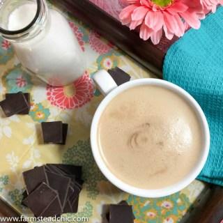 Paleo & Whole30 Mocha Latte, Dairy-Free Mocha Latte