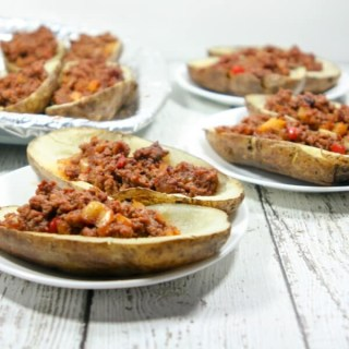 Whole30 Potato Skins, Sloppy Joe Potato Skins