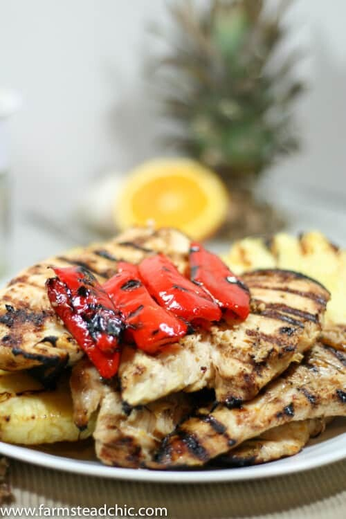 Pineapple Chile Grilled Chicken Marinade • Farmstead Chic