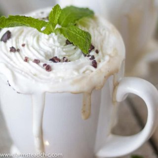 Paleo and Whole30 Peppermint Mocha Latte
