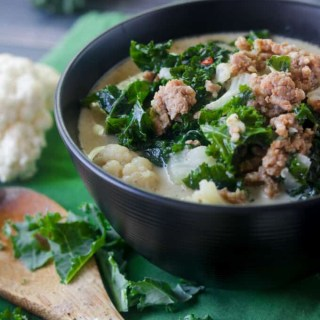 Low Carb, Keto Zuppa Toscana with Cauliflower (Paleo and Whole30)