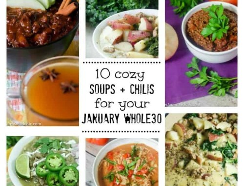During winter, I basically live off soup and chili. I love how you can just throw everything in the slow cooker/InstaPot/Dutch oven and call it a cozy dinner. And the options are truly endless. Here are ten Whole30 soups and chilis that'll help you get through the winter and your January Whole30.