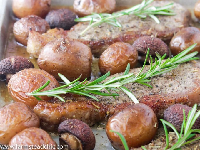 This Whole30 Steak and Potatoes Sheet Pan Dinner is the perfect meal for a busy weeknight or when you don't want to spend an hour in the kitchen. Rosemary and garlic highlight the flavor of the steak and veggies without overpowering them. This meal is so simple and easy to make with minimal prep and cleanup.