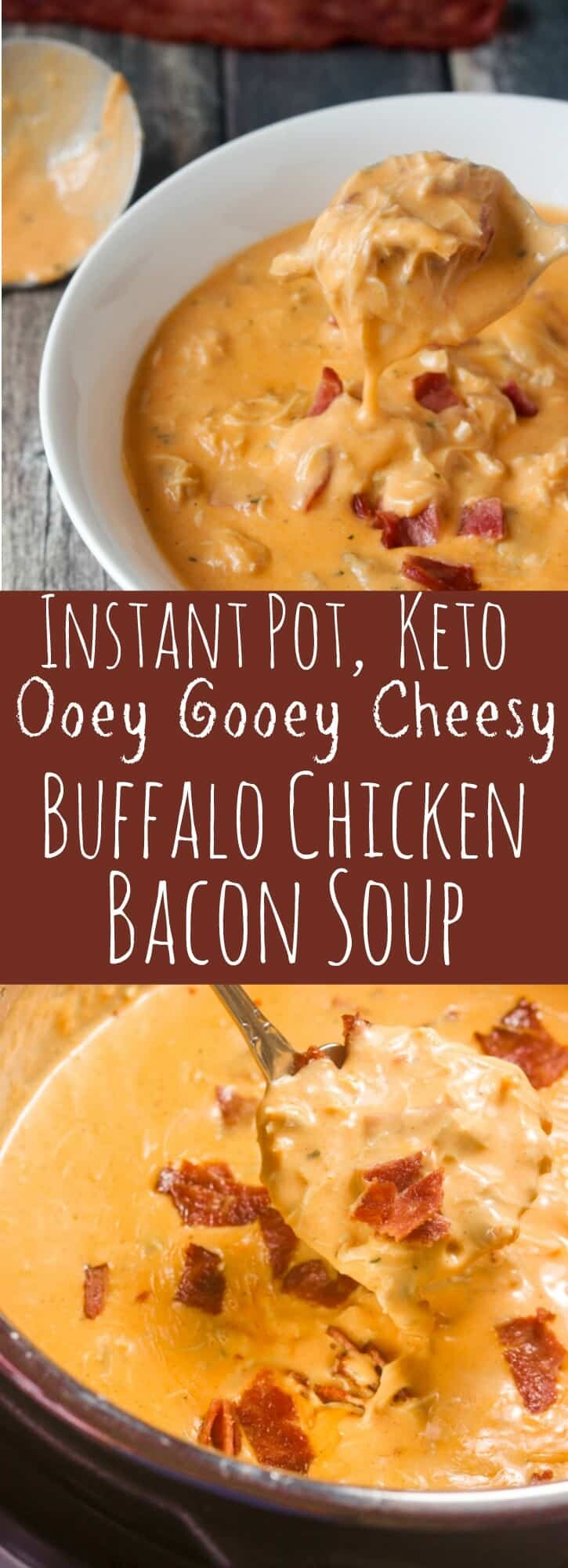 Keto Buffalo Chicken Bacon Soup