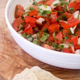Paleo and Whole30 Pico de Gallo, Fresh Salsa