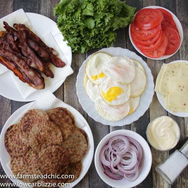 Keto breakfast sandwiches - meal prep