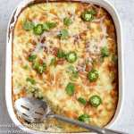 This Low Carb, Keto Jalapeño Corn Casserole is gluten free, grain free, moist, sweet and fluffy and filled with baby corn, juicy summer squash, fresh jalapeños and creamy cheese.   www.farmstmeadchic.com   #keto #lowcarb #glutenfree #grainfree #lowcarbcorncasserole #jalapenocorncasserole #farmsteadchic