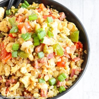 Low Carb, Keto Ham Fried Rice – Fried Cauliflower Rice
