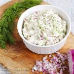 This Low Carb, Keto Leftover Turkey Salad made with mayonnaise, dijon mustard, red onion, celery and dill is a super easy, tasty way to use your holiday turkey leftovers and makes a creamy, crunchy, convenient lunch that requires no cooking. | www.farmsteadchic.com #leftoverturkey #ketoturkeysalad #lowcarbturkeysalad #leftoverturkeysalad #turkeysalad #farmsmteadchic