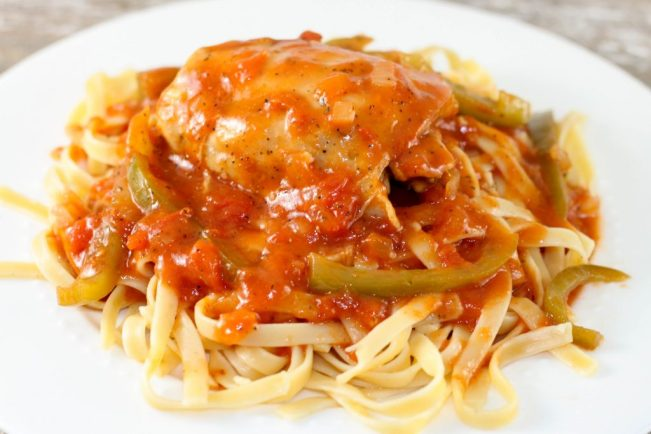 Instant Pot Chicken Cacciatore is an easy classic Italian dish that can be made quickly in your electric pressure cooker. Recipe also includes crock pot instructions.