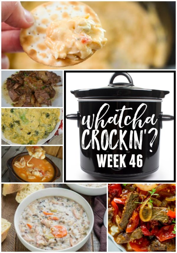 This week's Whatcha Crockin' crock pot recipes are perfect for fall including Crockpot Chicken Wild Rice Soup, Crock Pot Creamy Chicken Dip, Crock Pot Broccoli Cheese Casserole, Crock Pot Lasagna, Easy Crock Pot Chicken Chili Recipe with Cheese and Salsa, Loaded Baked Beans Perfect for Tailgating, Busy Day Slow Cooker Pot Roast, Crock Pot Pepper Steak and many more!
