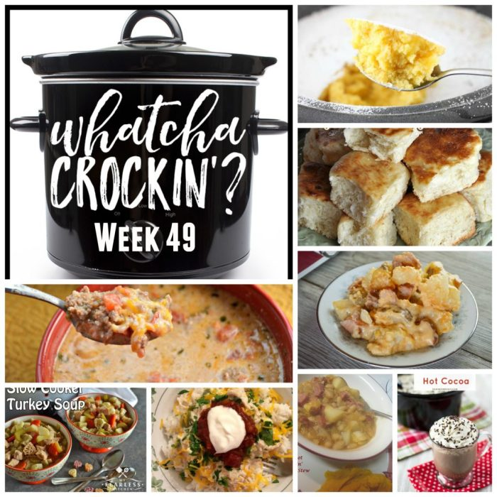 This week's Whatcha Crockin' crock pot recipes include Slow Cooker Ranch Chicken Rice Bowls, Warm Winter Lemon Cake, Low Carb Crock Pot Pizza Casserole, Crock Pot Cheesy Smoked Sausage and Potato Bake, Crock Pot Homemade Yeast Rolls, Sweet and Creamy Crock Pot Hot Cocoa, Crockpot Beans 'n' Kraut Stew, Slow Cooker Turkey Soup and many more!