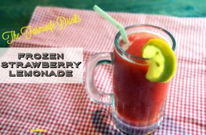Frozen strawberry lemonade is slushy twist on a summertime favorite. Kids and adults alike will love it.