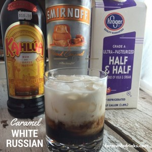 If you love a caramel macchiato, then the Caramel White Russian will be a great coffee cocktail or after dinner drink.