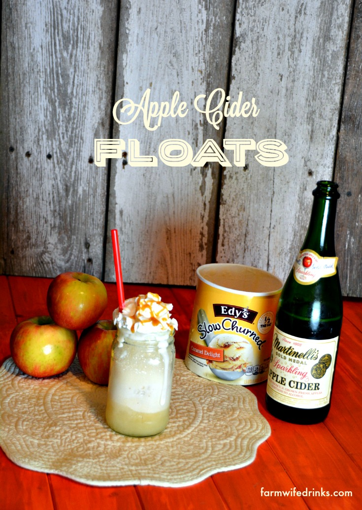 A great fall treat in this apple cider float. A great fall dessert recipe or after school treat.