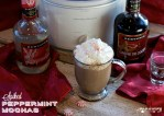 Crock pot Peppermint Mochas are a coffee shop favorite easily made at home in the crockpot. Add a shot of peppermint schnapps and creme de cocoa to make it a hot cocktail.