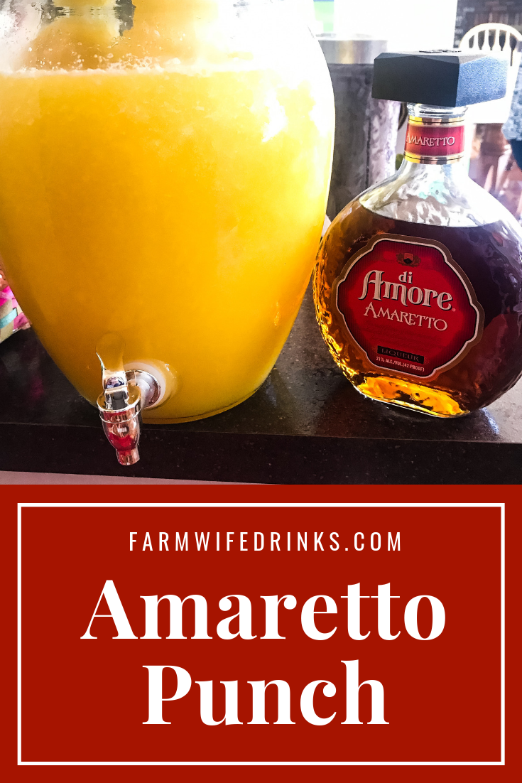 Amaretto Punch combines the best punch recipe with amaretto for the best spiked punch recipe for every occasion from holidays to showers. #Punch #SpikedPunch #Cocktail #Cocktails