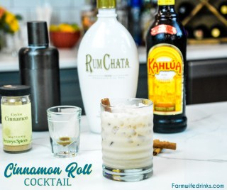 Cinnamon roll cocktail is a delicious combination of Kahlua and RumChata making a perfect nightcap cocktail or after-dinner drink.