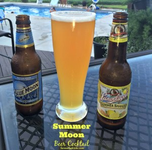 The summer moon beer recipe combines two great citrus beers for the perfect summer beer cocktail.