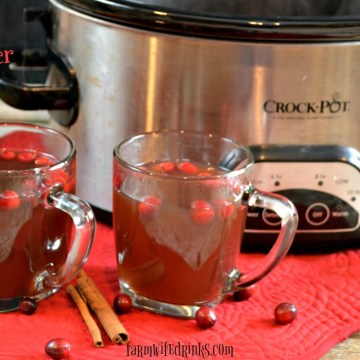 Crock Pot Cranberry Cider is a delicious spiced cider made in the slow cooker. Perfect fall or winter drink can be made with a splash of rum or not for all to enjoy.