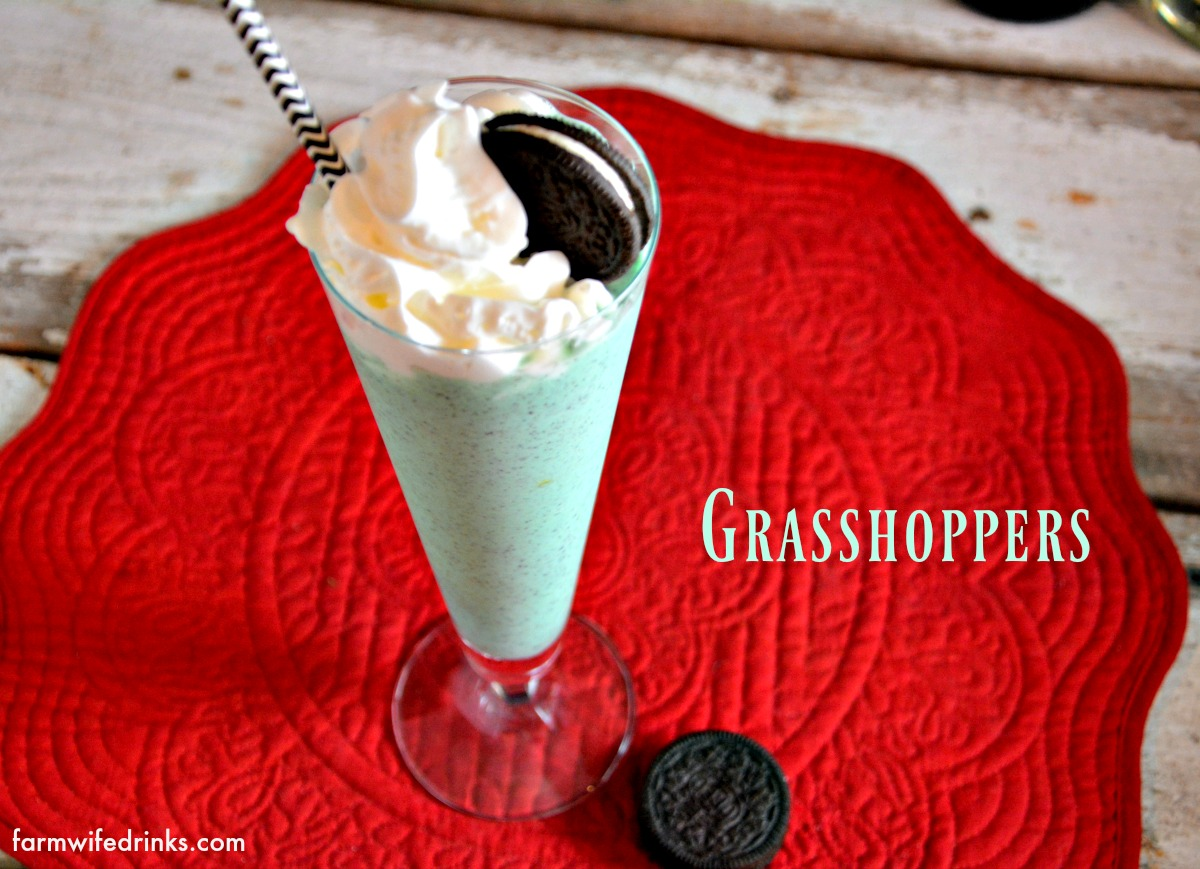 Grasshoppers Frozen Mint Chocolate Cocktail Drinks