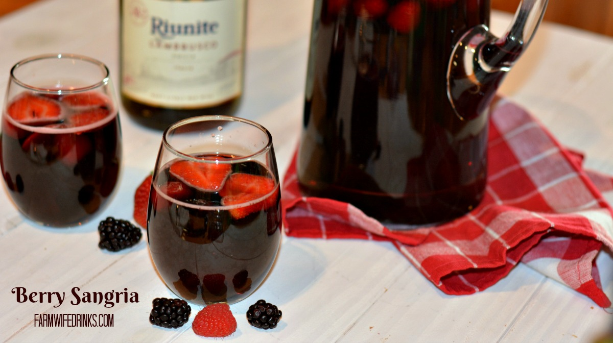 This mixed berry sangria is the perfect amount of sweet and dry to serve to a crowd of mixed wine drinkers. If you love Olive Garden Berry Sangria, you will love this sangria.