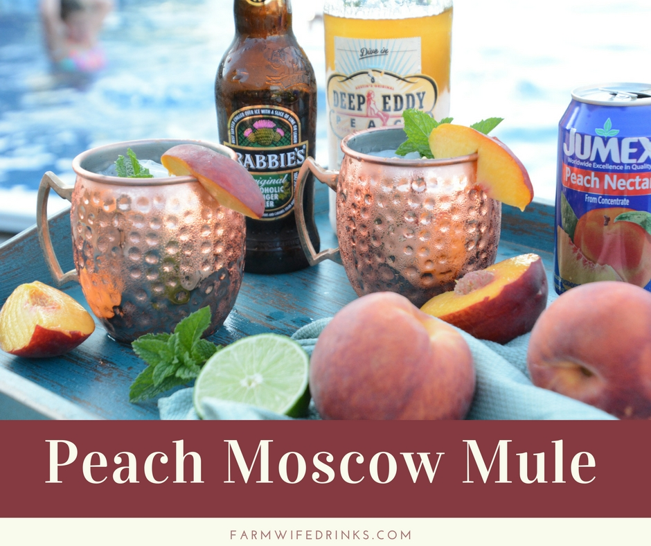Peach Moscow Mule - The Farmwife Drinks