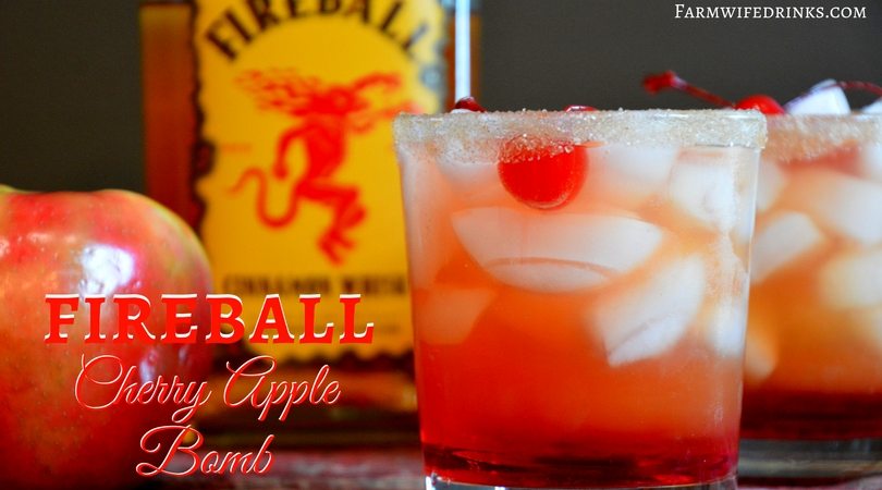 Fireball Cherry Apple Bomb Cocktail