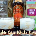 Like all the pumpkin spice latte lovers, I have my boozy version of this fall favorite with this pumpkin spice White Russian.