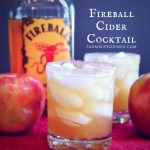 Just like apples and cinnamon are flavor partners so are Frieball Whiskey and Apple cider in this Fireball Cider Cocktail.
