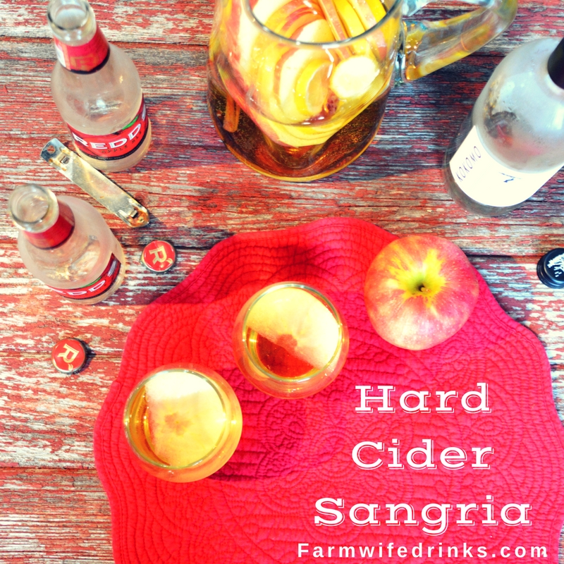 Hard cider sangria combines the crisp flavors from hard cider and a dry unoaked white wine for a refreshing and unique pitcher of sangria.