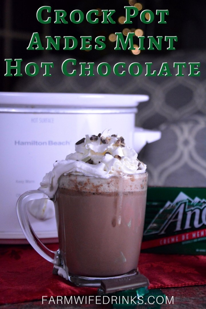 The crock pot Andes mint hot chocolate was sweet and decadent and smooth. This minty hot cocoa is just what you would imagine Andesmints cocoa should be.