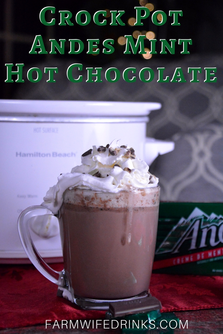 The crock pot Andes mint hot chocolate was sweet and decadent and smooth. This minty hot cocoa is just what you would imagine Andes mints cocoa should be.