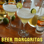 The three simple ingredients come together in these beer margaritas for a refreshing blend of beer and tequila with the perfect tang from the limeade concentrate.