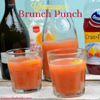 Champagne brunch punch is a combination of cranberry, pineapple, and orange juice topped off with champagne and grenadine while the kid-friendly Christmas punch version substitutes ginger ale for the champagne. #ChampagneBrunch #Brunch #Champagne #Cocktails #KiddieCocktails #Mocktails