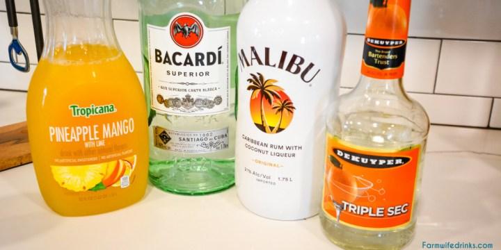 Hawaiian Rum Cocktail Ingredients
