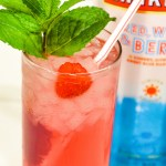 Pink Starburst vodka cocktail combines Smirnoff's Red, White, and Berry vodka with the berry lemonade Sparkling Ice water for an easy-sipping, low-carb cocktail that tastes just like starburst candy.