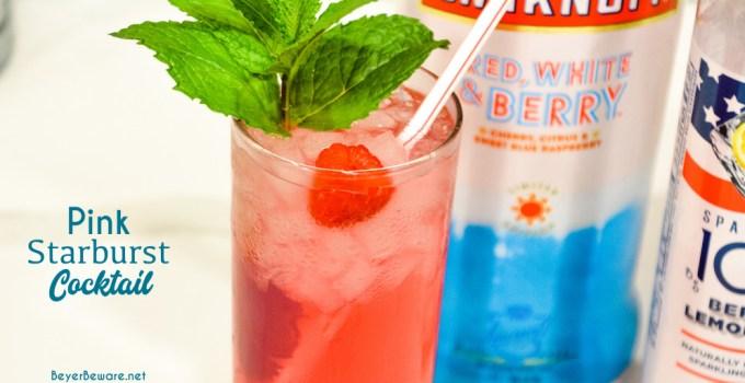 Pink Starburst Vodka Cocktail – Red, White, and Berry Vodka Cocktail