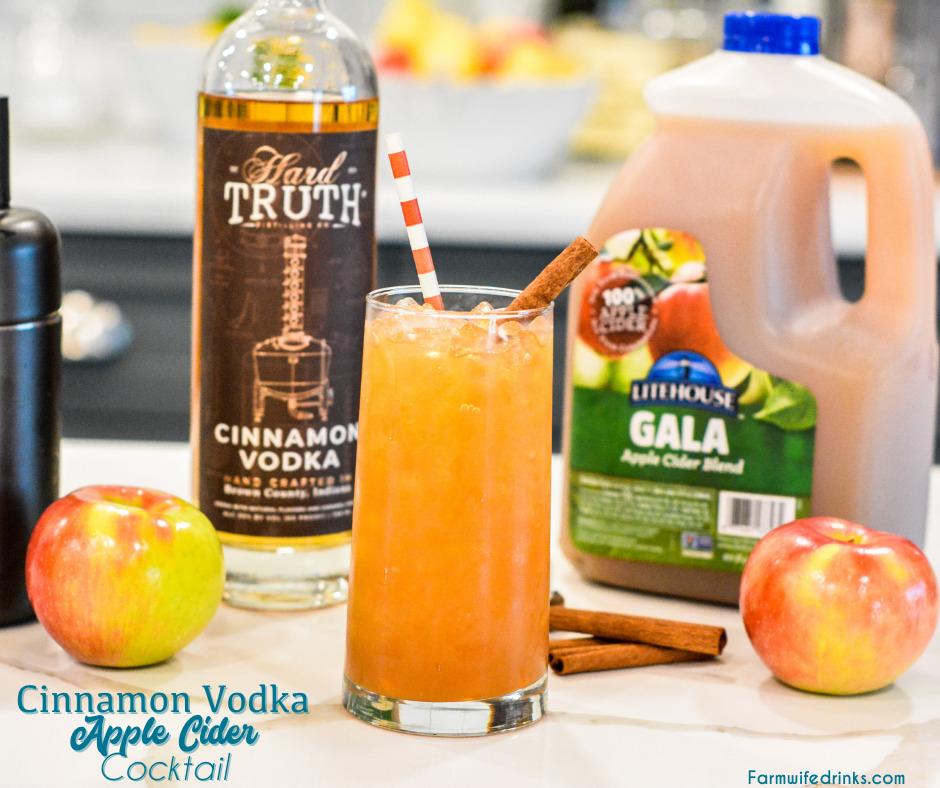 Cinnamon Vodka Apple Cider Cocktail The Farmwife Drinks