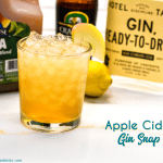 Apple cider gin snap is a gin variation to the a Moscow mule with the combination of ginger beer, apple cider, gin, and lemon juice to create a ginger apple cider gin cocktail.